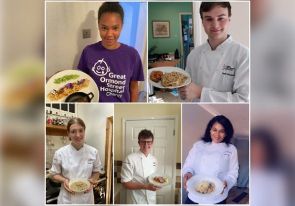 CATERING STUDENTS TAKE PART IN A COOKING COMPETITION TO RAISE MONEY FOR GREAT ORMOND STREET HOSPITAL