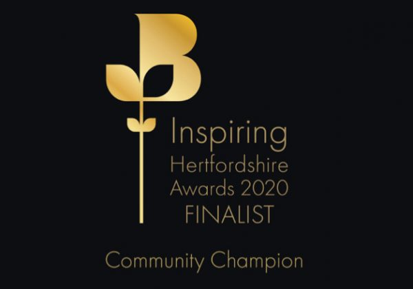 NHC SHORTLISTED FOR COMMUNITY CHAMPION AT THE INSPIRING HERTS AWARDS 2020