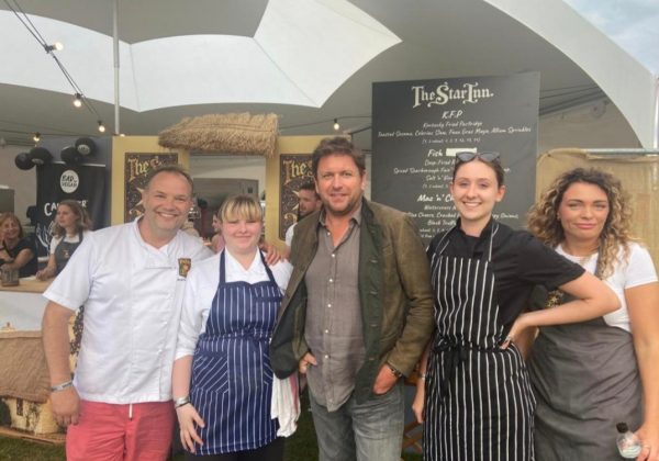 STUDENTS COOK WITH FAMOUS FACES AT PUB IN THE PARK